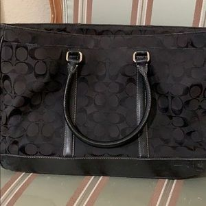 Coach square tote with Zippers